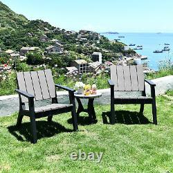 3 Piece Patio Bistro Set Outdoor Garden Furniture Set with Round Table and Chairs