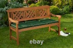3 Seater Hardwood Bench Classic Wooden Garden Patio Outdoor Furniture Indoor NEW