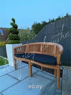 3 Seater Teak Wooden Garden Bench Outdoor Patio Seat Chair Bowood Furniture