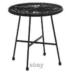 3Piece Garden Patio Furniture Set Outdoor Seating Acapulco Chair Black GGF013B01