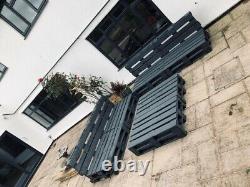 4 Grey Indoor/Outdoor Rustic Patio Garden Pallet Furniture Chair Sofa 2 Tables