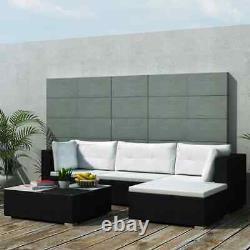 5pcs Patio Garden Furniture Rattan Corner Sofa Coffee Table Cushion Set 3 color