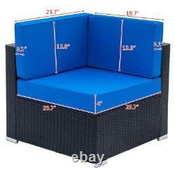 6 Seater Wicker Rattan Corner Sofa Set Table Outdoor Garden Furniture Patio UK