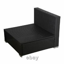 6PC Rattan Outdoor Garden Furniture Patio Corner Sofa Set PE Wicker Deck Couch