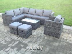9 seater rattan corner sofa set chair outdoor garden furniture patio furniture