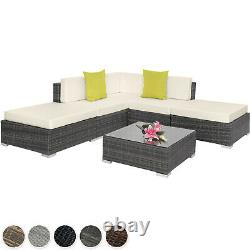 Aluminium Luxury Rattan Garden Patio Furniture Sofa Lounge Table Set Wicker New