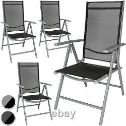 Aluminium folding garden chairs outdoor camping patio furniture new