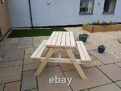 CLASSIC Wooden Pub Style Picnic Table and Bench Garden Furniture