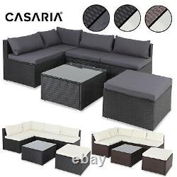 Casaria Poly Rattan Garden Sofa Corner Furniture Set Outdoor Patio Conservatory