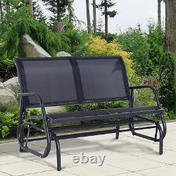 Double Bottom Swing Chair Camping Outdoor Garden Patio Furniture Glider Beach