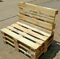 Euro Pallet Garden Patio Furniture Outdoor Seating Set Reclaimed Industrial Wood