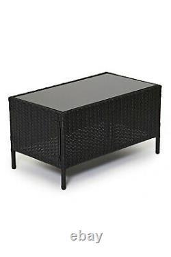 Evre Madrid Outdoor Garden 4 Piece Furniture Set Conservatory Patio Lounge Black