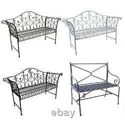 Garden Bench Outdoor Patio Metal Bench Vintage Rustic Style Luxury Furniture New