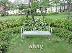 Garden Bench Seat Patio Furniture Foldable Metal Vintage Antique Outdoor