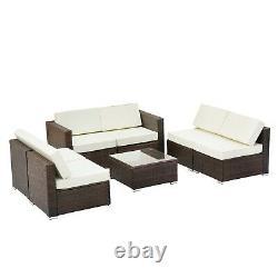Garden Corner Sofa Rattan Garden Furniture Patio Set Lounge Set 6 Seater