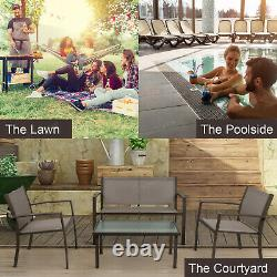 Garden Furniture Table + 3 Chairs Sets Patio/Garden/Outdoor/Conservatory/Balcony