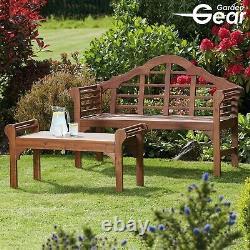 Garden Gear Lutyens Style Bench or Table Solid Acacia Hardwood Patio Furniture