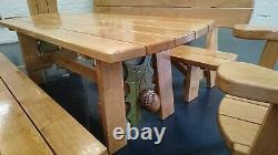 Garden Patio Furniture Set 8 Seater Dining Outdoor Table And (Chair only) wood