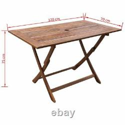 Garden Patio Table Outdoor Wood Dining Folding Tables Rectangle Wooden Furniture