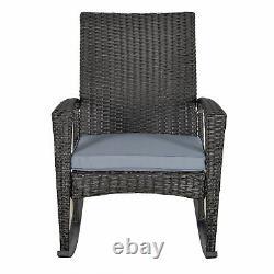 Garden Rattan Rocking Chair Garden Furniture Patio Bistro Recliner