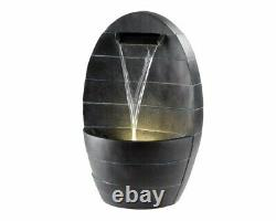 Garden Water Fountain LED Light Feature Free Standing Outdoor Furniture Patio