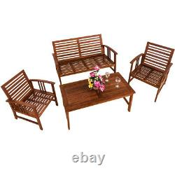 Garden Wooden Lounge Set Outdoor Patio Garden Furniture Table Chairs Bench Set