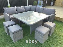 Grey Rattan Garden Patio Conservatory Or Summerhouse Furniture