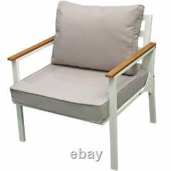 Harrier White Garden Sofa Sets 4/7 Seater CLEARANCE PRICE Grade B