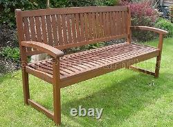 Henley 3 Seat Bench Chunky Quality Hardwood Garden Patio Furniture Free Delivery