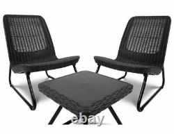 Keter Garden Furniture Set Chairs Coffee Table Patio Balcony Outdoor Modern HQ