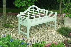 Lutyens Garden Bench Solid Acacia Hardwood Forest White Oiled Wooden Furniture