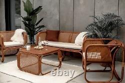 Natural Rattan Sofa 2/3 Seater Outdoor Zorba Garden Furniture Patio Conservatory