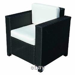 Outsunny Rattan Single Cube Chair Garden Furniture Sofa Patio Seater Black