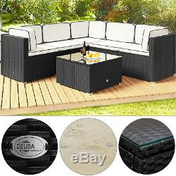 Poly Rattan Corner Sofa Garden Furniture Set Outdoor Conservatory Patio Weave