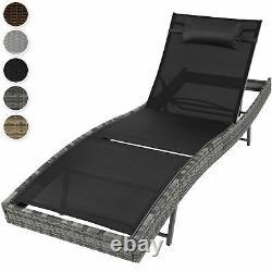 Rattan Day Bed Sun Canopy Lounger Recliner Garden Furniture Patio Terrace New