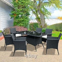Rattan Dining Set Conservatory 7pcs Garden Furniture Seaters Patio Weave Outdoor