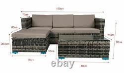 Rattan Furniture With Cushion Outdoor Patio Stylish Corner Garden Set