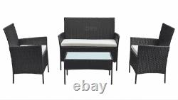 Rattan Garden Furniture Dining Set Patio Outdoor 4 Piece Table Chairs Sofa
