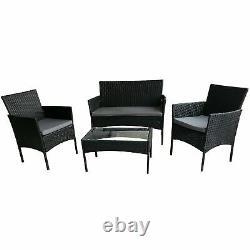 Rattan Garden Furniture Set 4 Piece Chairs Sofa Coffee Table Outdoor Patio Set
