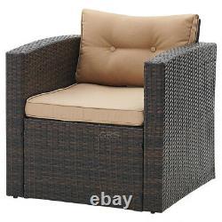 Rattan Garden Furniture Set Brown Outdoor Table Chair Sofa Conservatory Patio