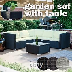 Rattan Garden Furniture Set Wicker Sofa Table Outdoor Dining Bench Patio Malta