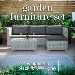 Rattan Garden Patio Furniture Set Sofa Bench Dining Table Outdoor 4 Seater