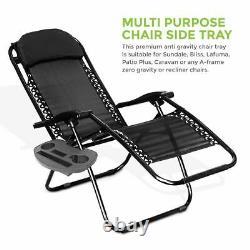Reclining Outdoor Chair Sun Lounger Seat Garden Patio Folding Camping Adjustable