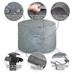 Round Outdoor Garden Furniture Waterproof Cover Table Patio Chair Set Protector