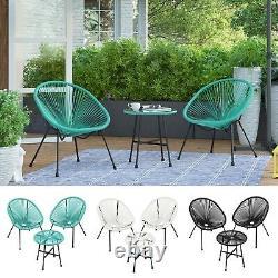 SONGMICS 3-Piece Garden Patio Furniture Set Outdoor Seating Acapulco