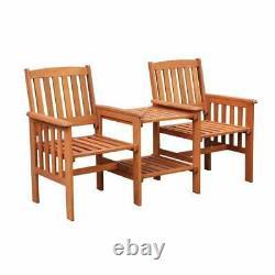 Tropicana Wooden Love Seat Chair Table Bench Garden Patio Outdoor Furniture