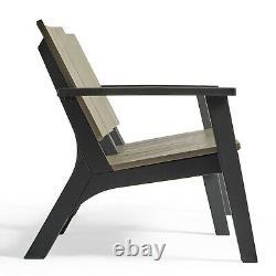 VonHaus Garden Sofa Set All Weather Wood Effect Outdoor Patio Furniture