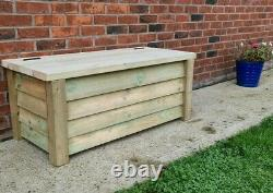 Wooden Garden Storage Box Outdoor Furniture Home Toys Patio Large Big Utility