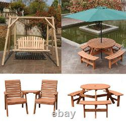 Wooden Garden Table Bench Chair Seat Swing Chair Hammock Outdoor Patio Furniture