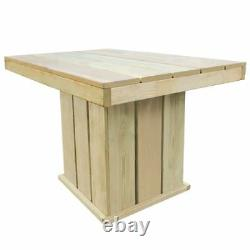 Wooden Table Chair Set Garden Outdoor Patio Dining Coffee Furniture Chairs Wood